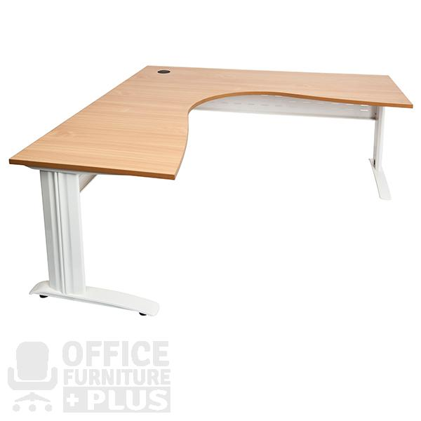 Rapid span corner workstation desk office furniture plus - Corner office desk ...