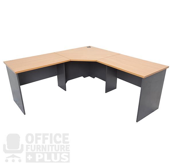 Rapid Worker Corner Workstation Desk Office Furniture Plus