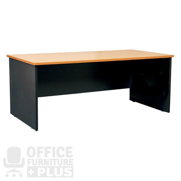 Rectangular Desk Beech Office Furniture Plus