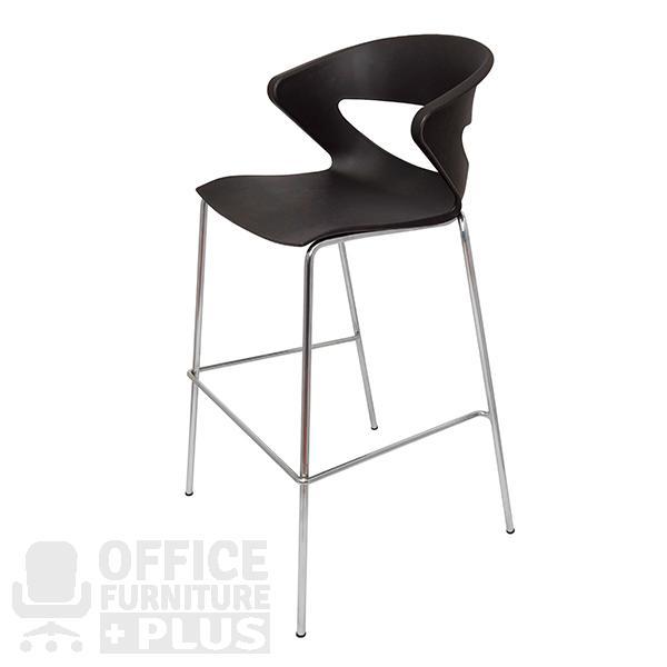 Taurus bar stool black office furniture plus for Furniture joondalup