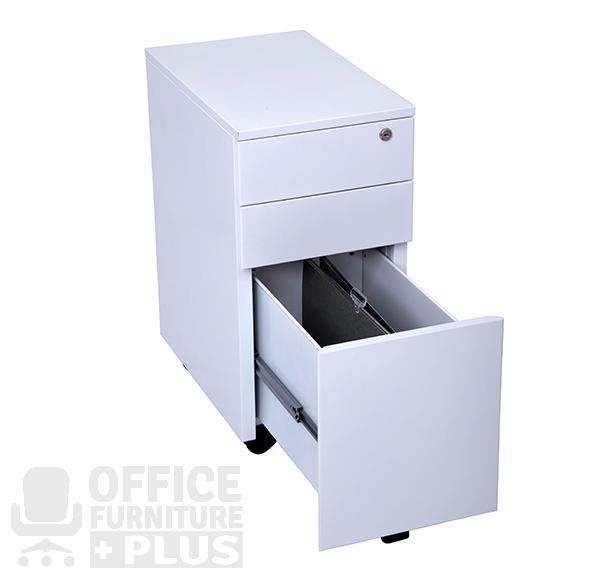 Go Steel Slimline Mobile Pedestal Drawers Office Furniture Plus