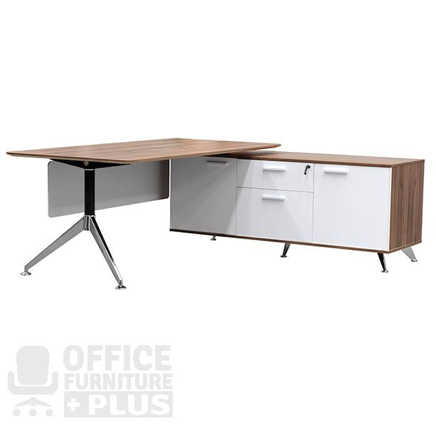 potenza rectangular desk with return office furniture plus