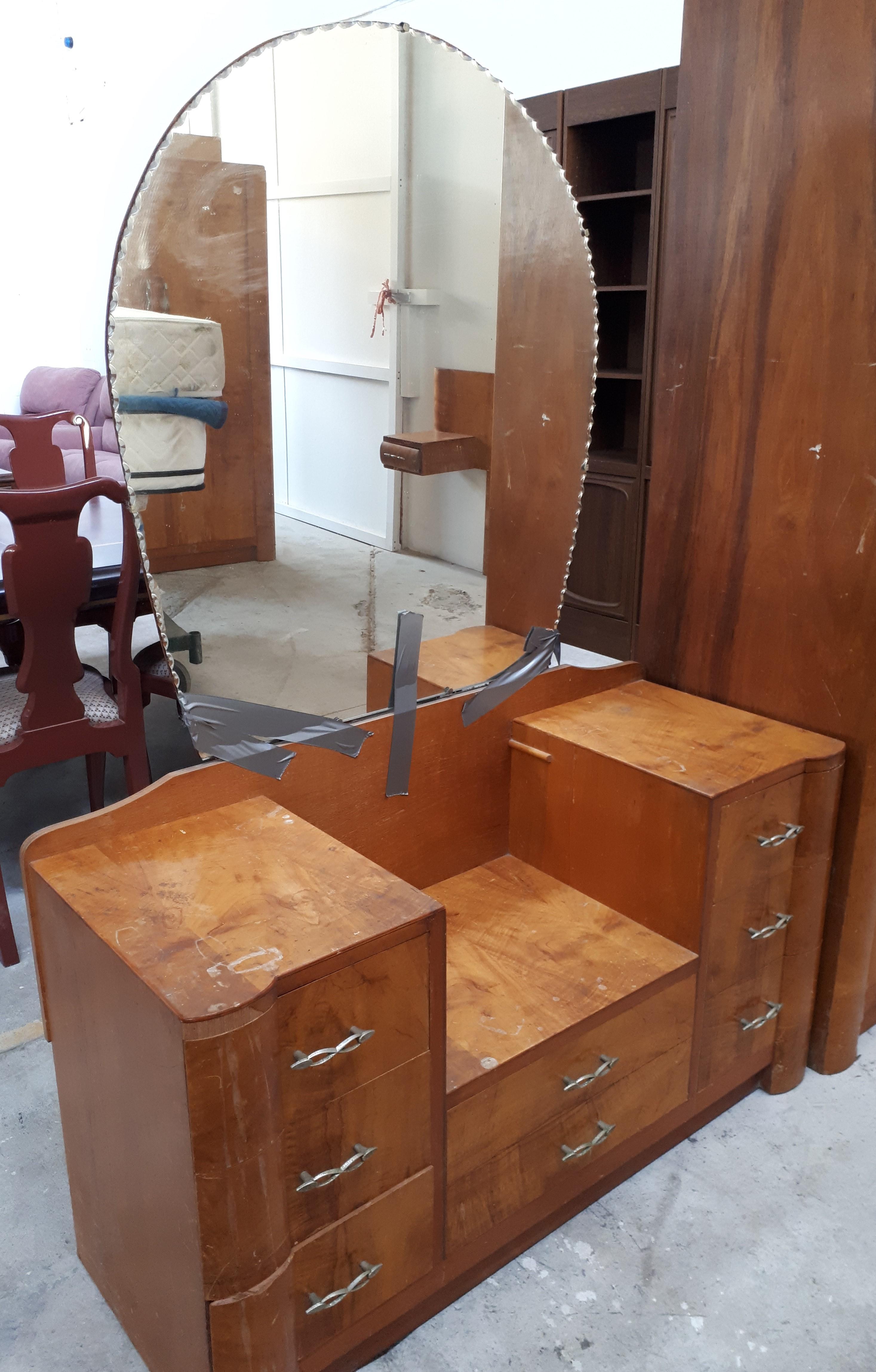 Retro Bedroom Suite 4 Pieces Office Furniture Plus