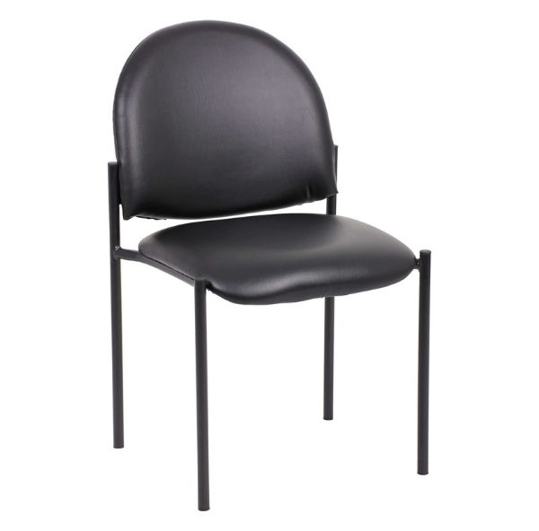 Stacking Visitor Office Chair YS11B Black PU