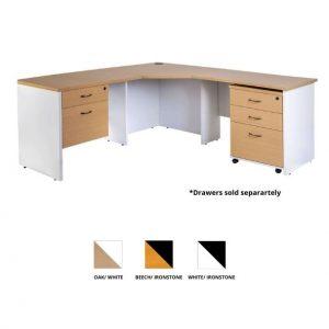 Logan Corner Workstation Desk Oak