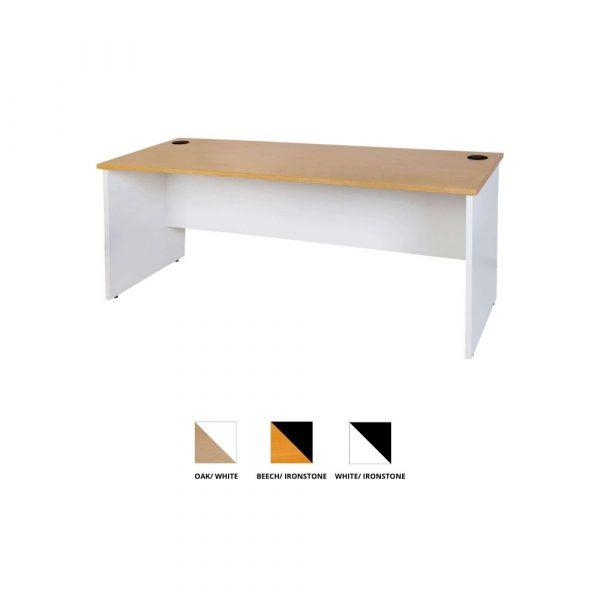 Logan Open Rectangle Desk Oak White