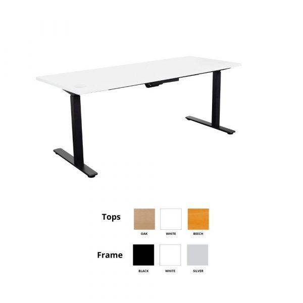 Summit Height Adjustable Open Desk